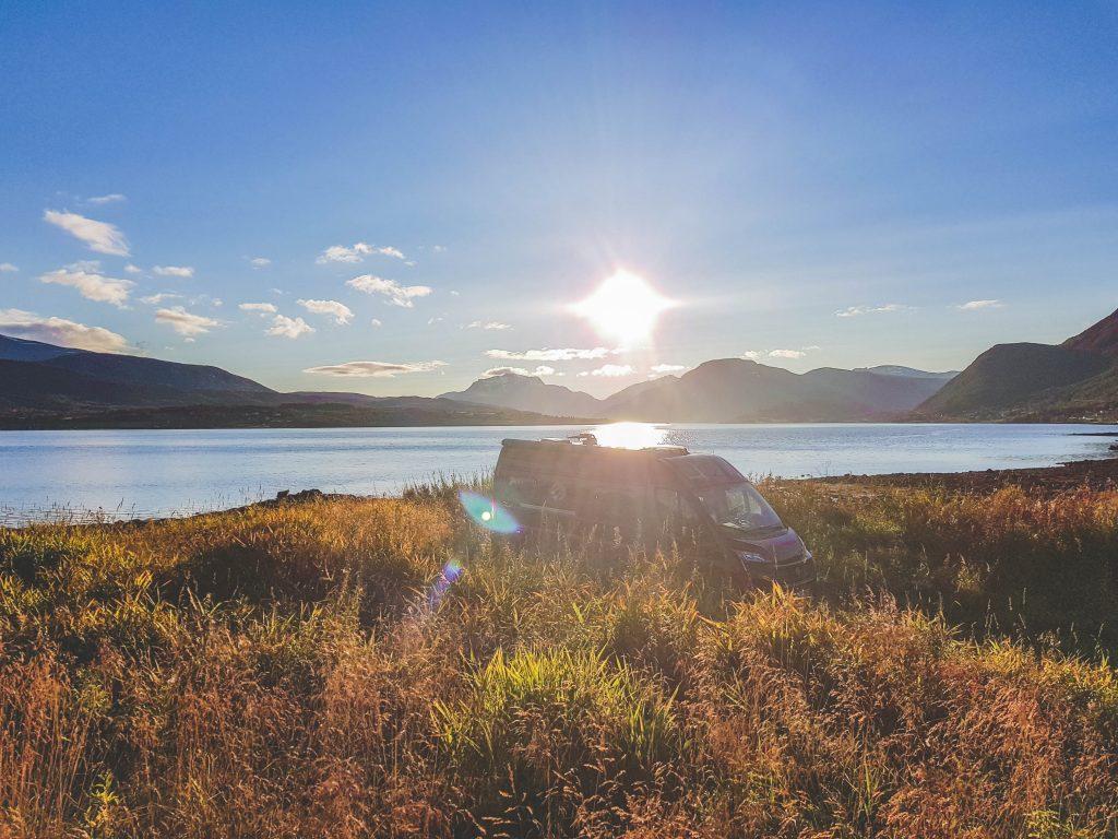 Camping am Fjord Norwegen