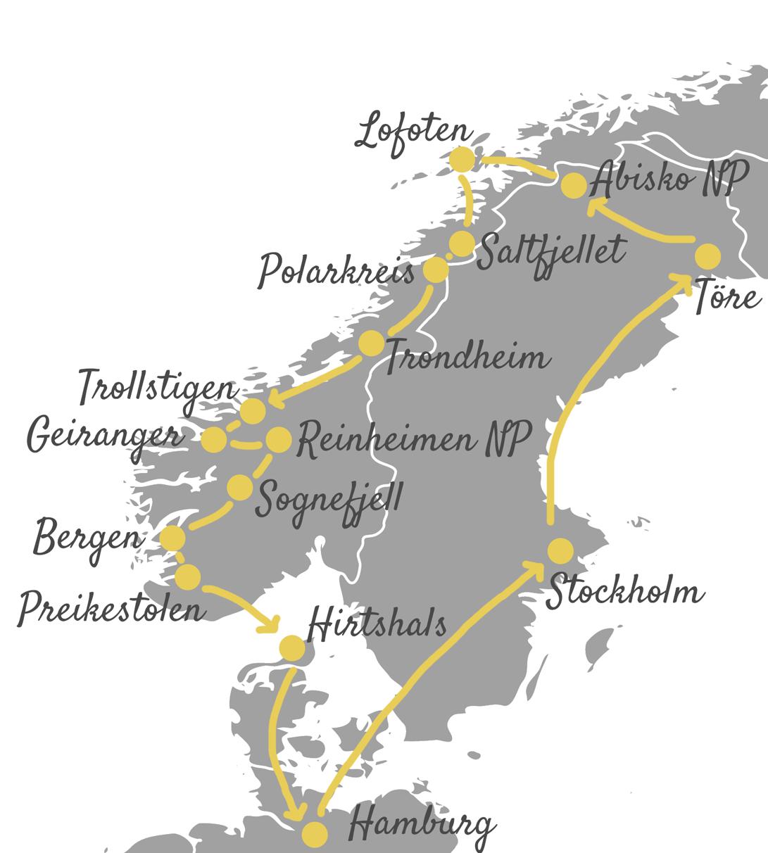 Unsere Norwegen Roadtrip Route: Mit dem Camper auf die Lofoten