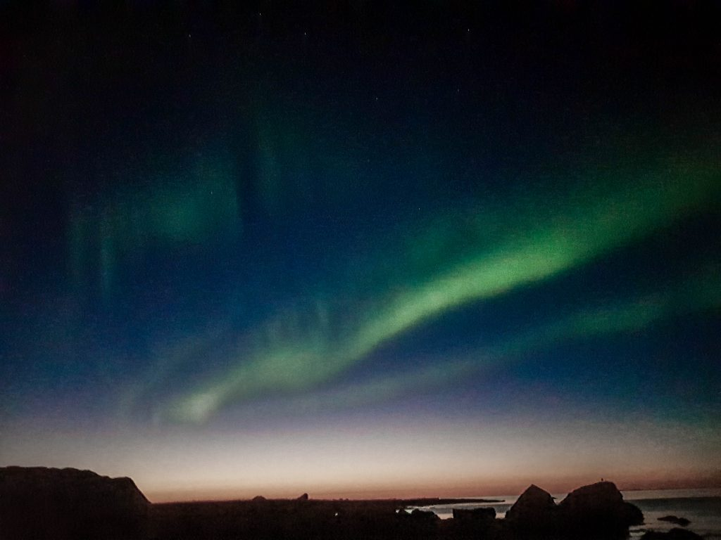 Nordlichter Sonnenuntergang Lofoten Ramberg