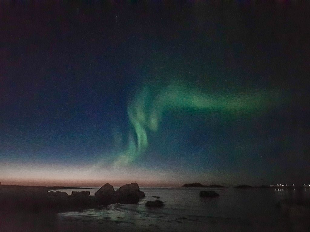 Nordlichter Ramberg Strand Lofoten