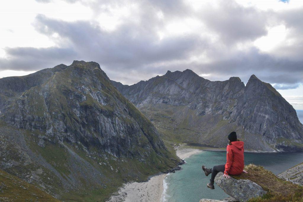 Natur-Highlight Ryten Wanderung Kvalvika Beach Lofoten