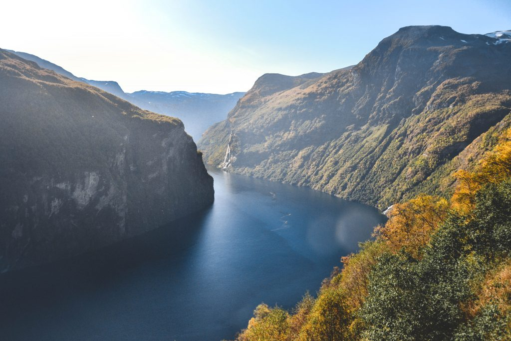 Highlight in Norwegen Geiranger Fjord Aussichtsplattform