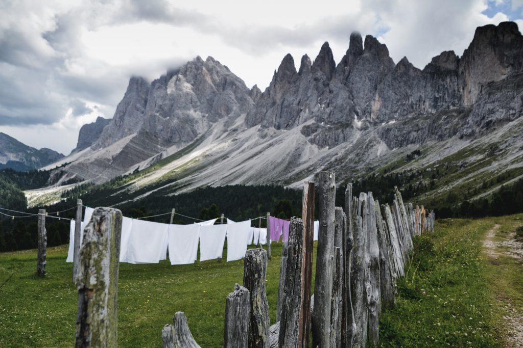 Blick von der Brogleshütte auf die Panascharte Italien Roadtrip