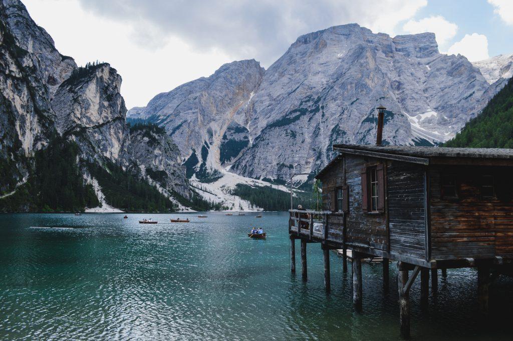 Pragser Wildsee Ruderboot Ausblick