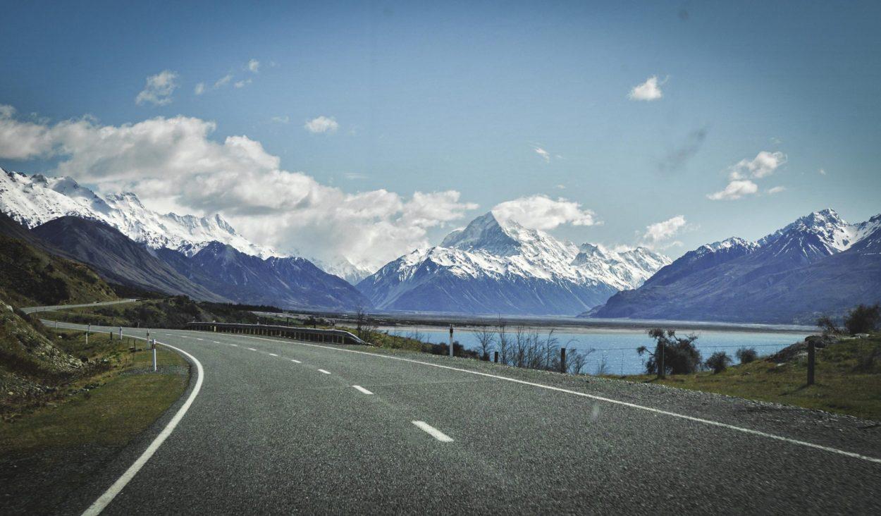 Anfahrt zum Mount Cook