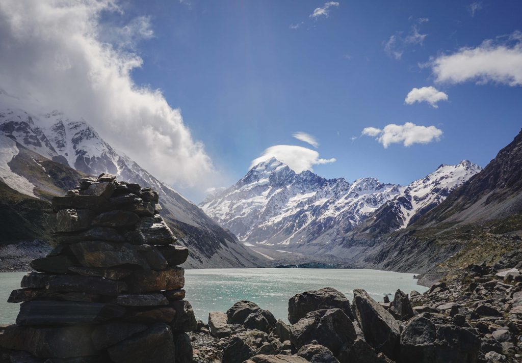 Gletschersee Mt. Cook