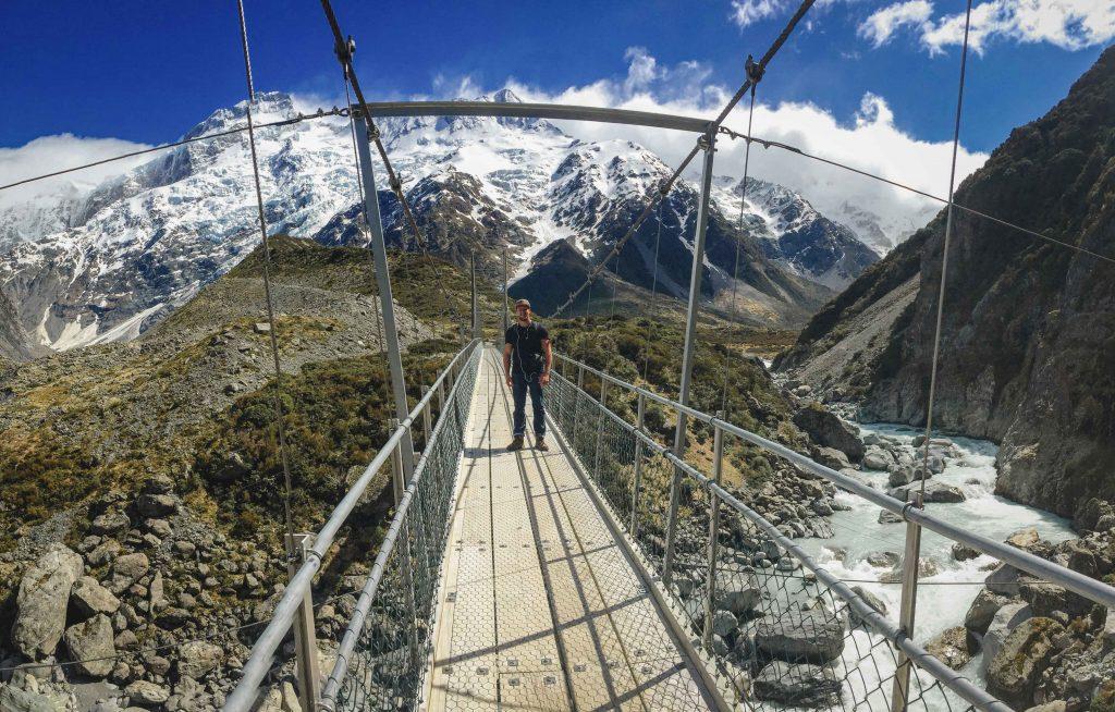 Hängebrücke Hooker Valley
