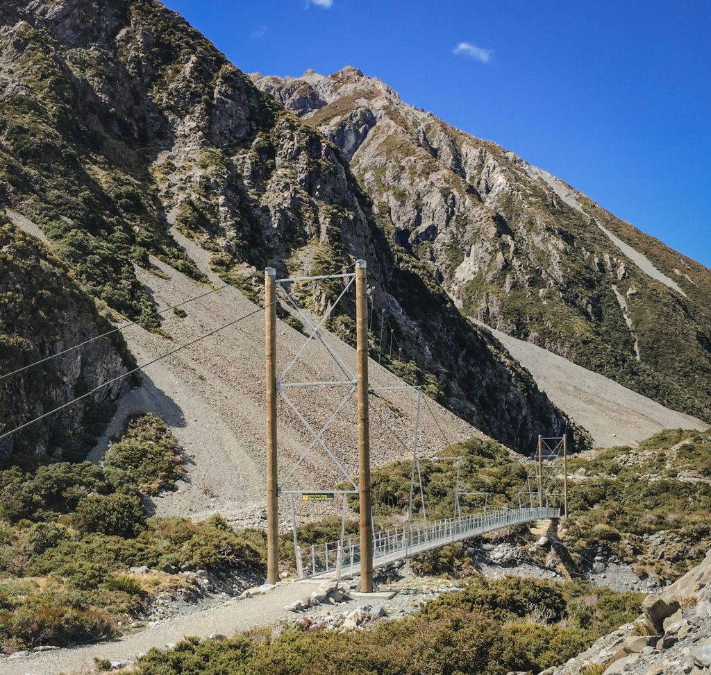 Hängebrücke Wanderung Mount Cook