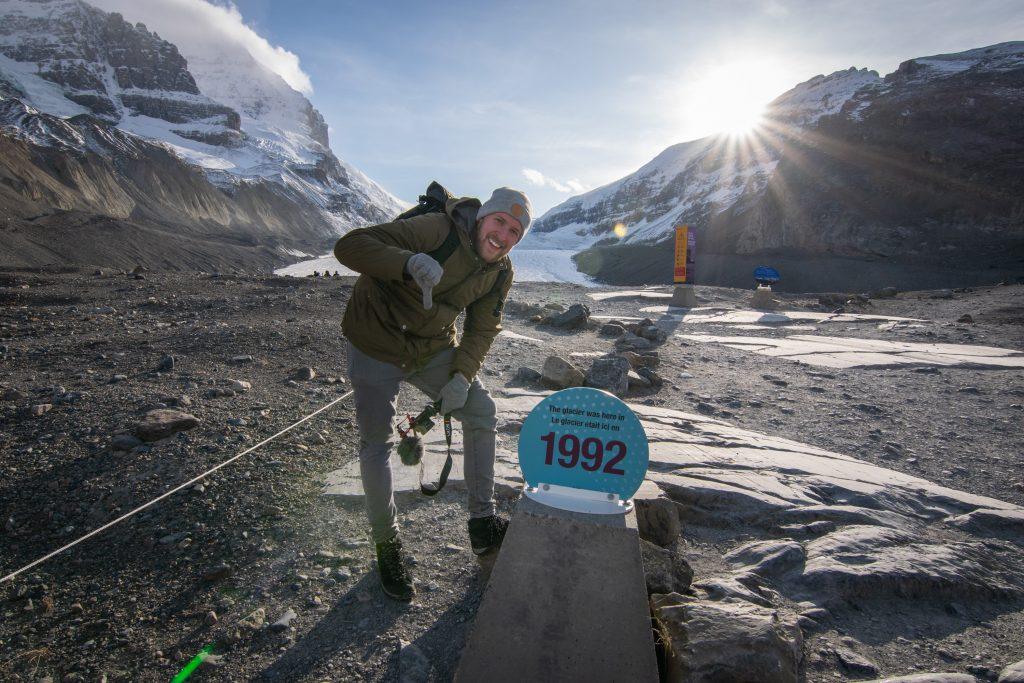 Athabasca Glacier Rückgang