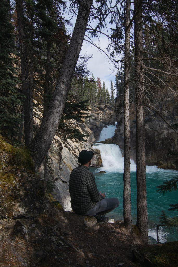 Lower Sunwapta Falls Jasper Nationalpark