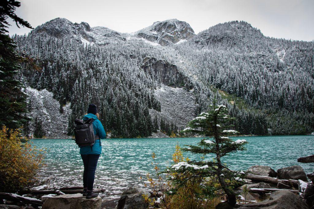 Joffre Lakes Provincial Park Middle Lake Ausblick