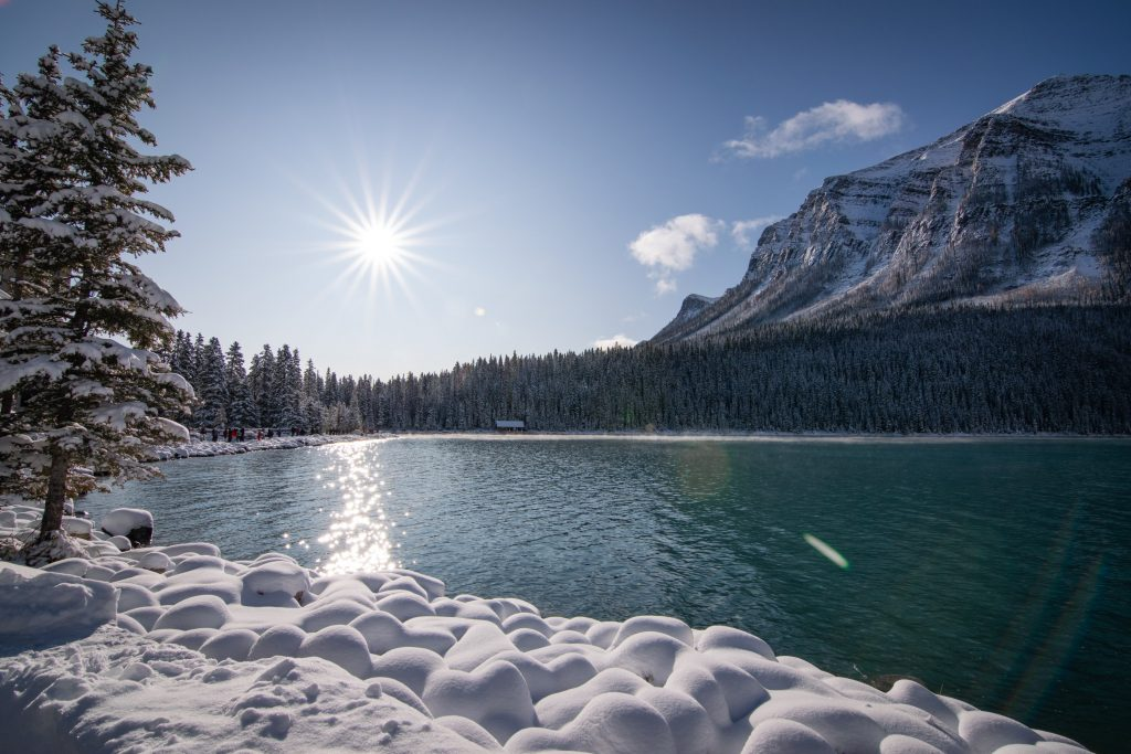 Lake Louise im Schnee