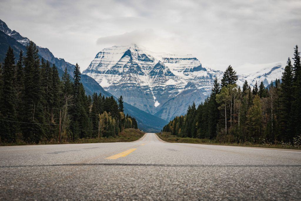 Mount Robson Yellowhead Highway Ausblick