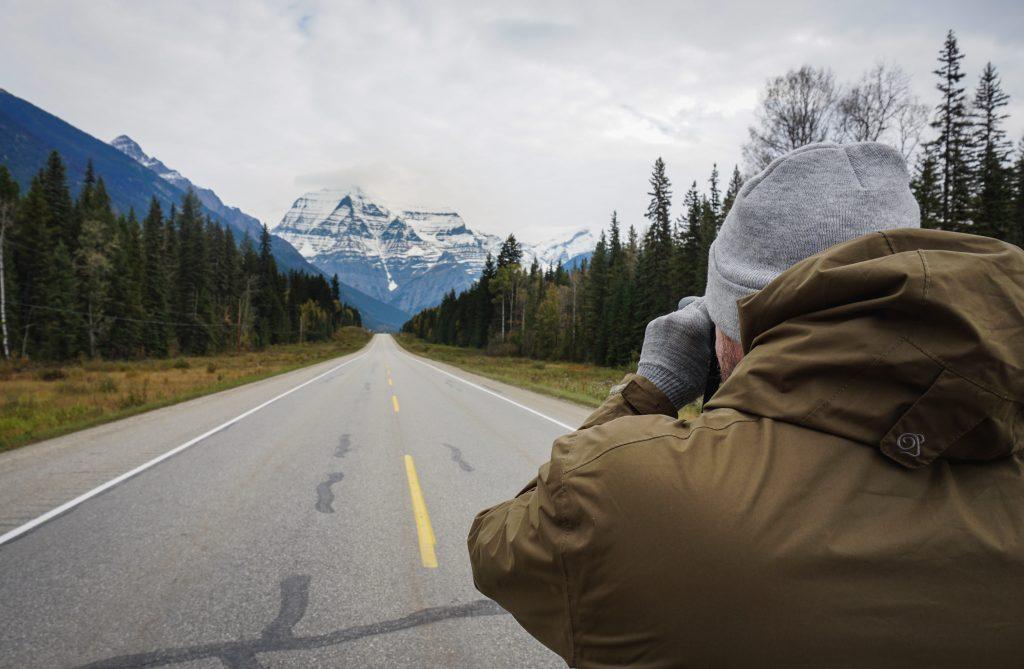 Straße Foto Mount Robson