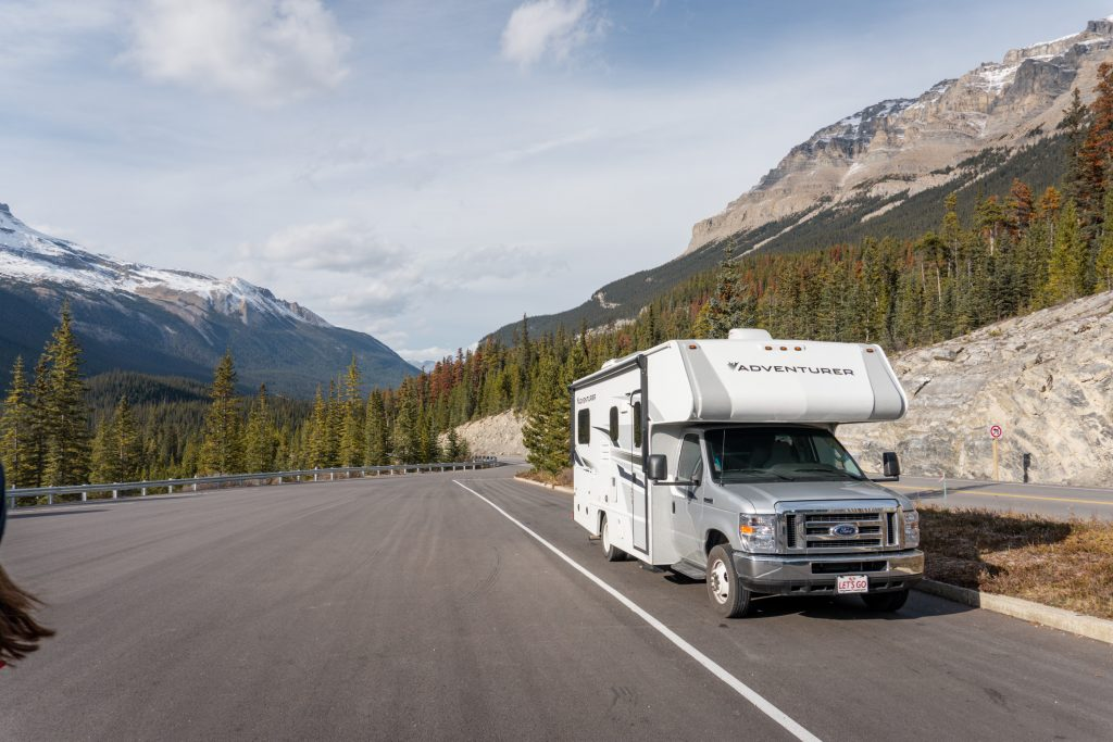 Stutfield Lookout Jasper Nationalpark Camper