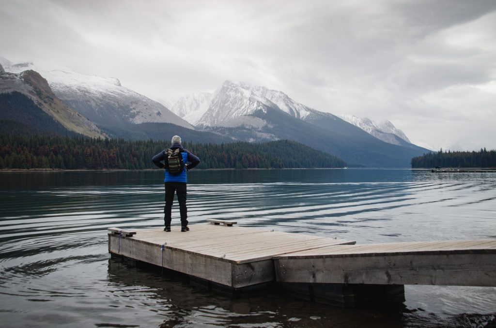 Maligne Lake Steg