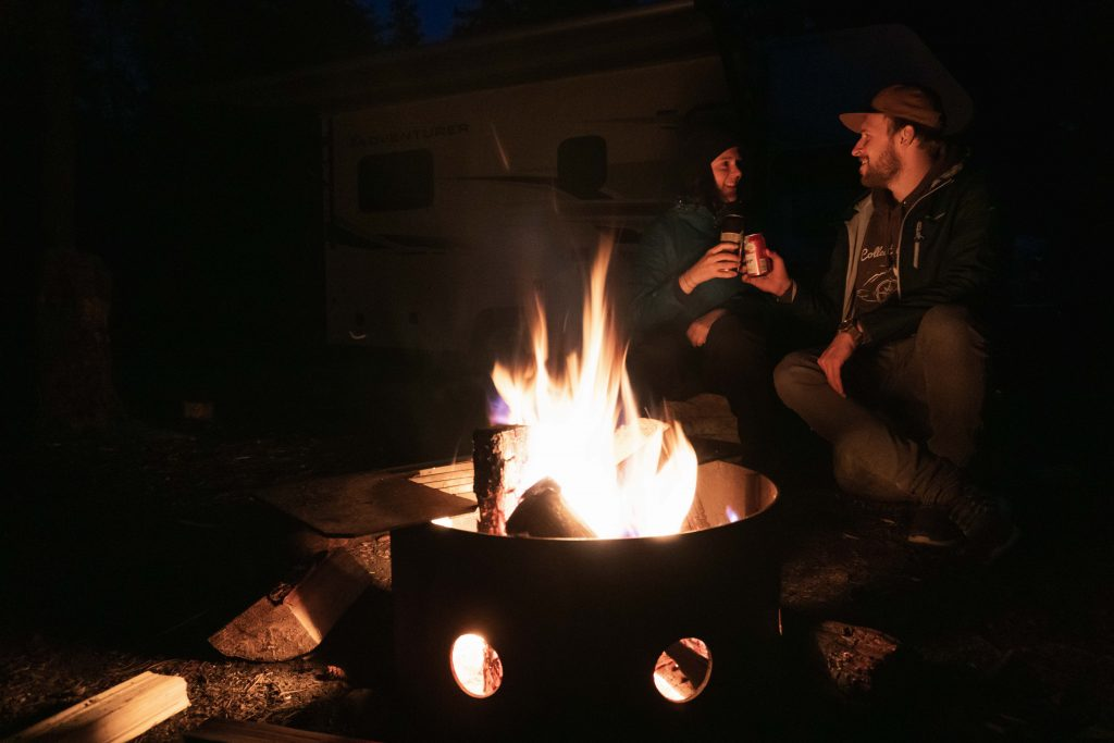 snaring campground lagerfeuer