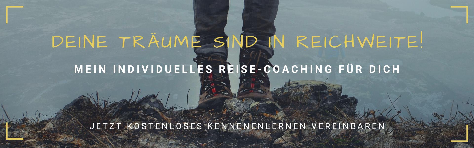 Deine Träume in Reichweite - Reise-Coaching Banner