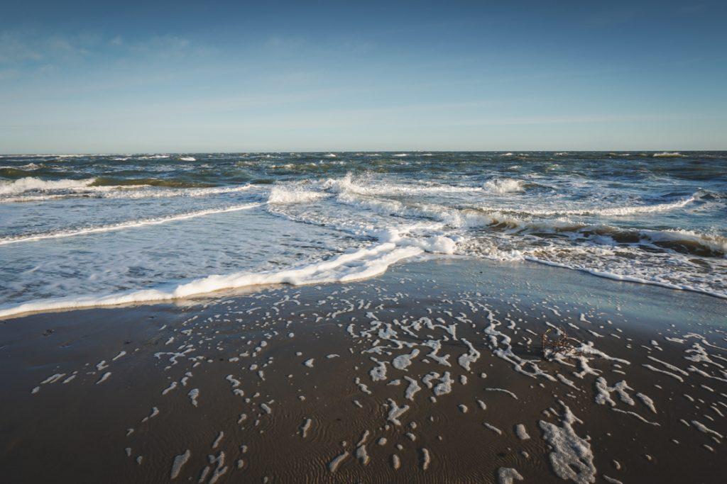 Nordjütland Grenen Nordsee Ostsee treffen zusammen