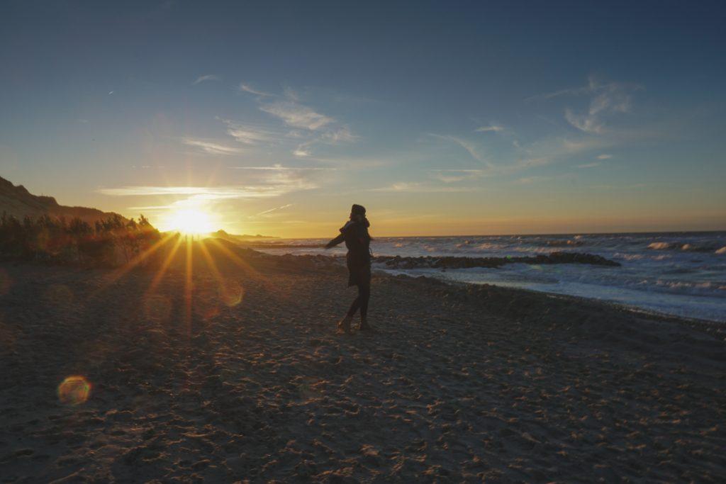 Sonnenuntergang Gammel Skagen Freiheit