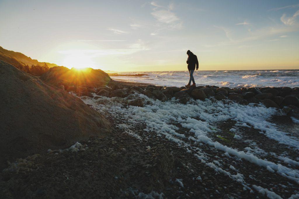 Sonnenuntergangskiosk Gammel Skagen