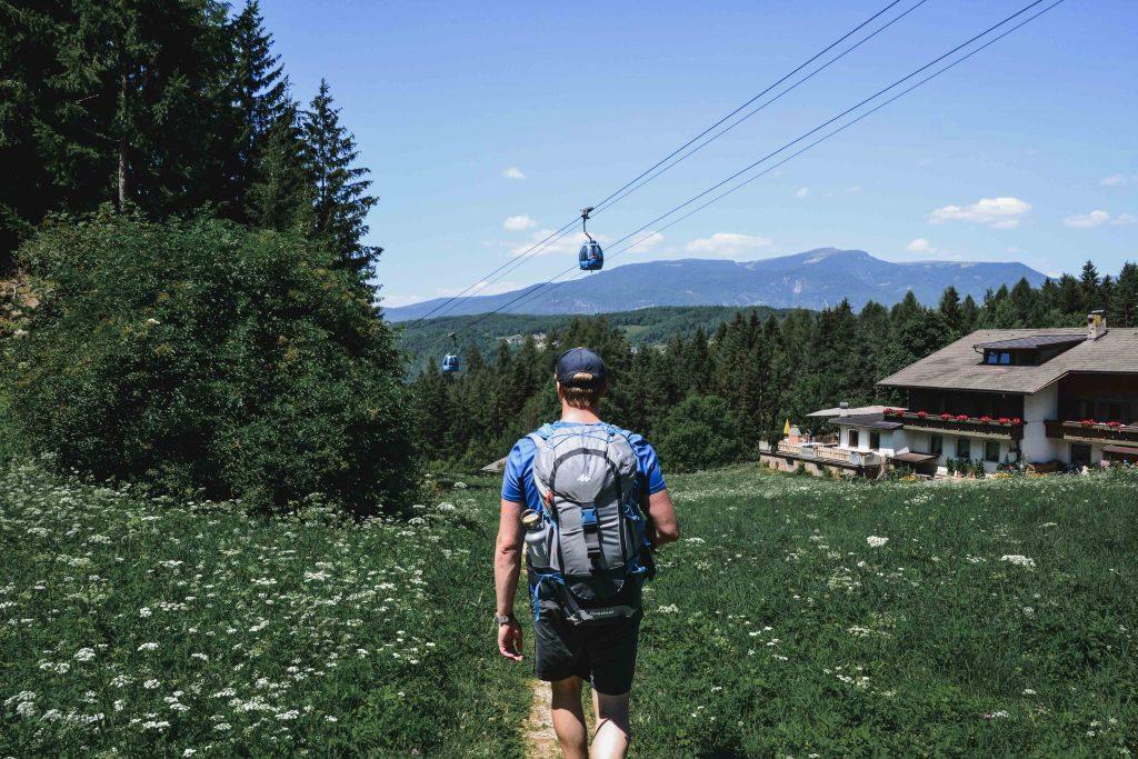 Der Weg zur Talstation in Seis