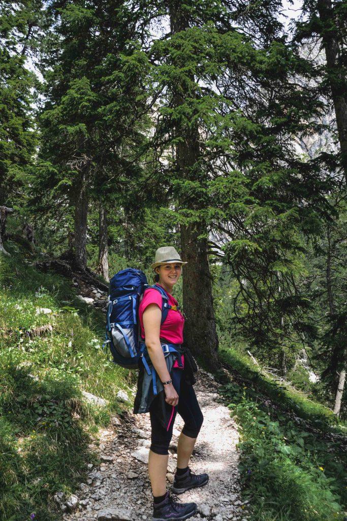 Hüttenwanderung auf der Seiser Alm mit Wanderrucksack