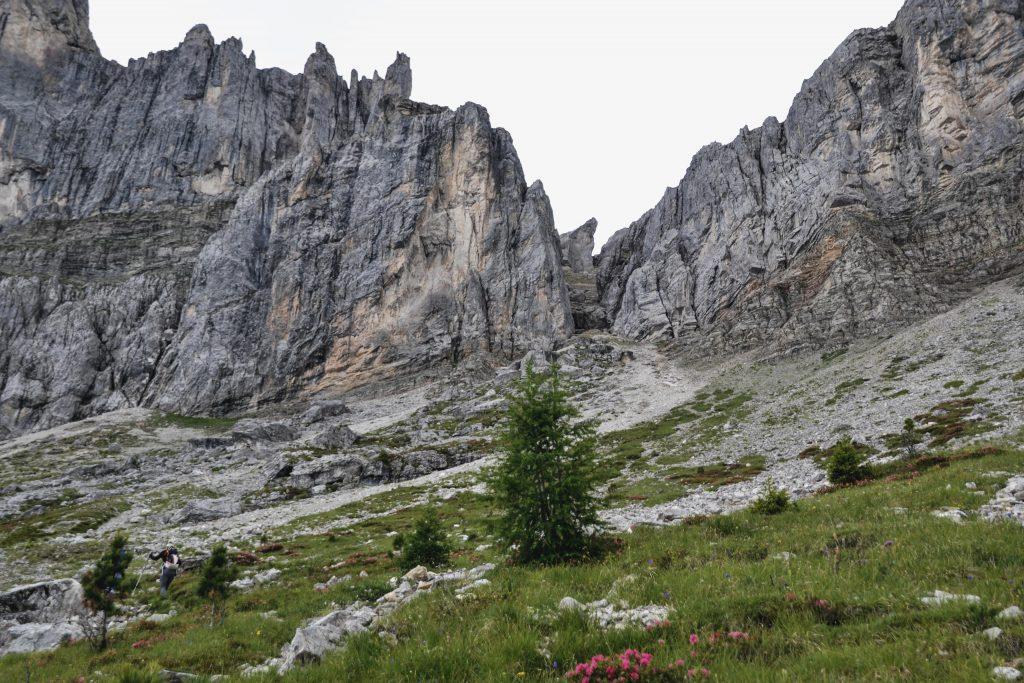 Seceda Wanderung Anstieg Panascharte