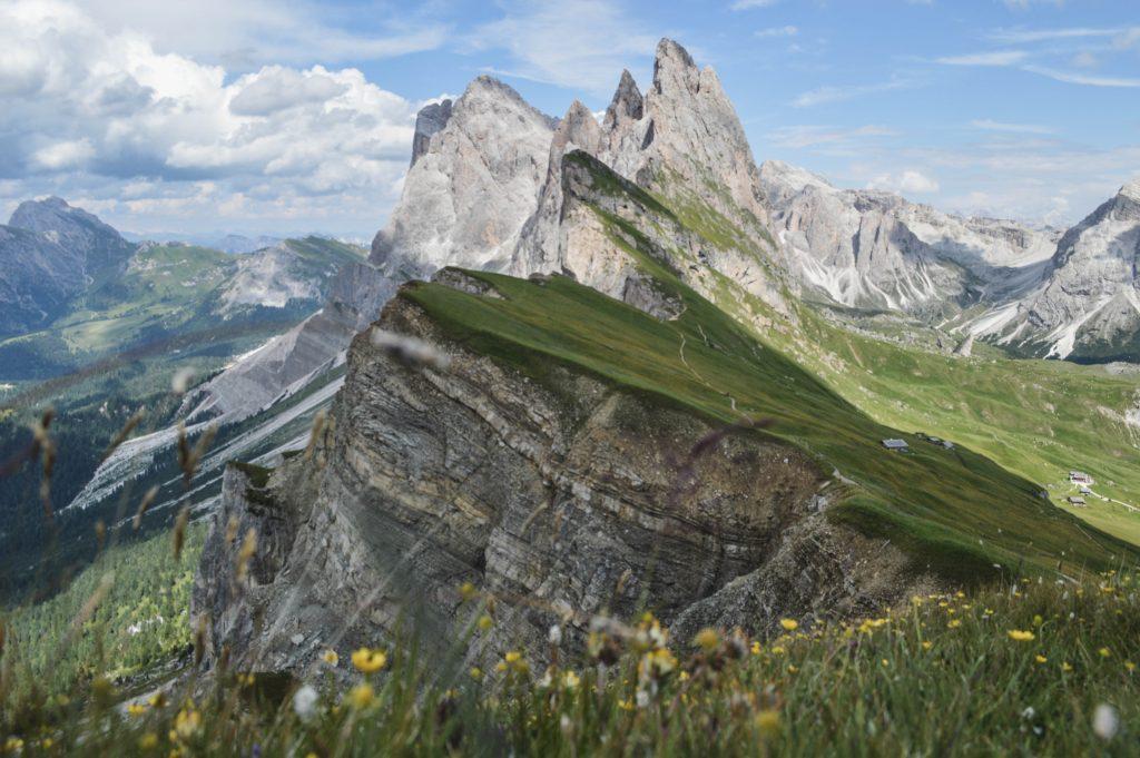 Seceda Wanderung Ausblick Geislerspitzen