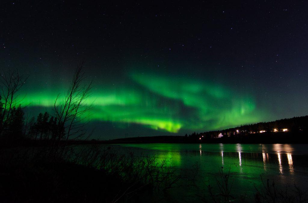 Nordlichter Lappland Skandinavien Schweden Polarkreis Jokkmokk Roadtrip