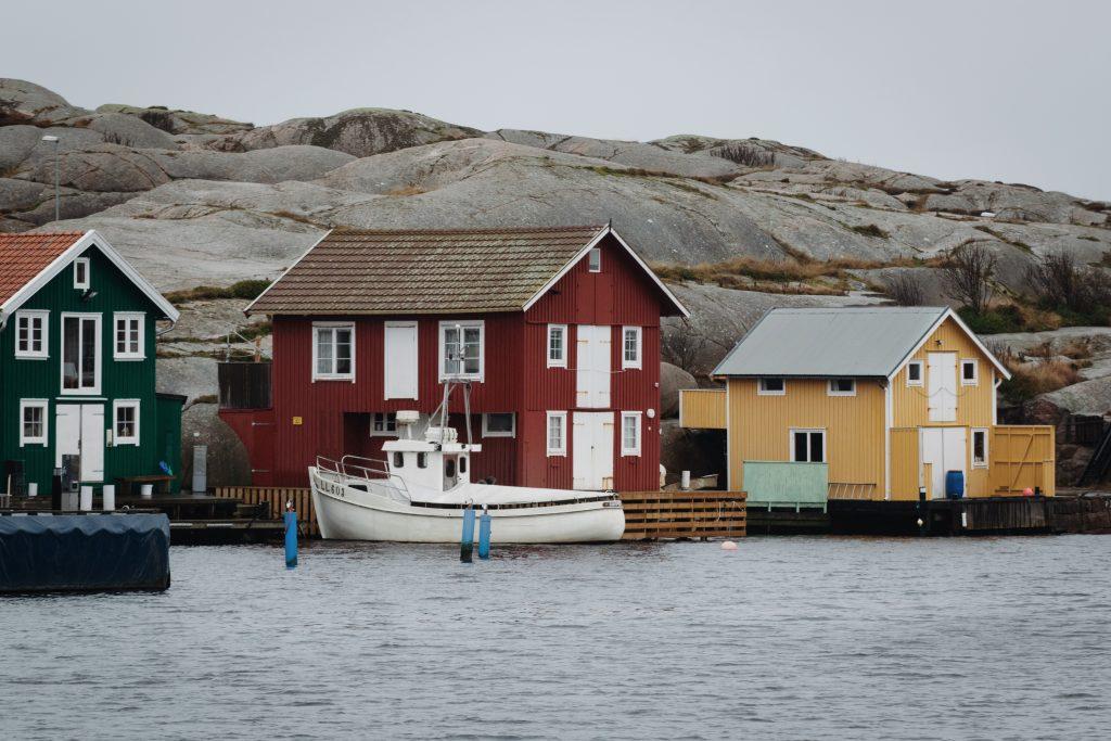 Smögen Westküste Schweden bunte Häuser Roadtrip
