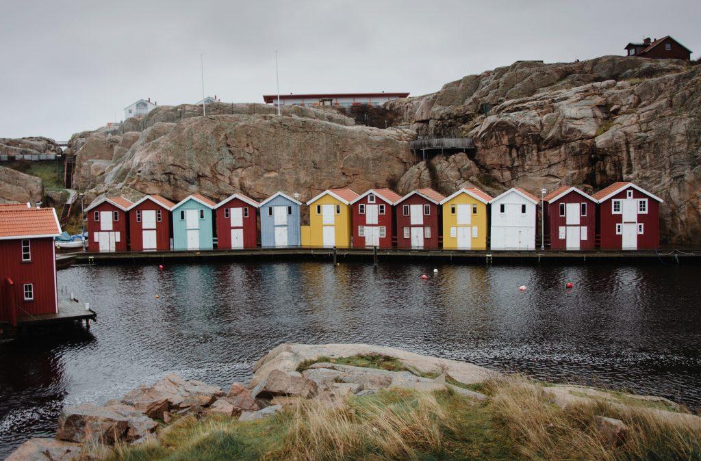Smögen Westküste Schweden bunte Häuser Roadtrip Rundreise