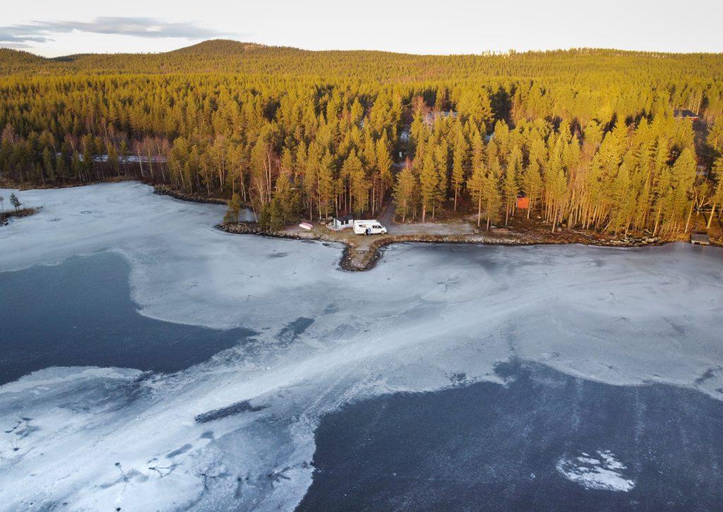 Stellplatz-Lappland-Schweden-Polarkreis-Nordschweden