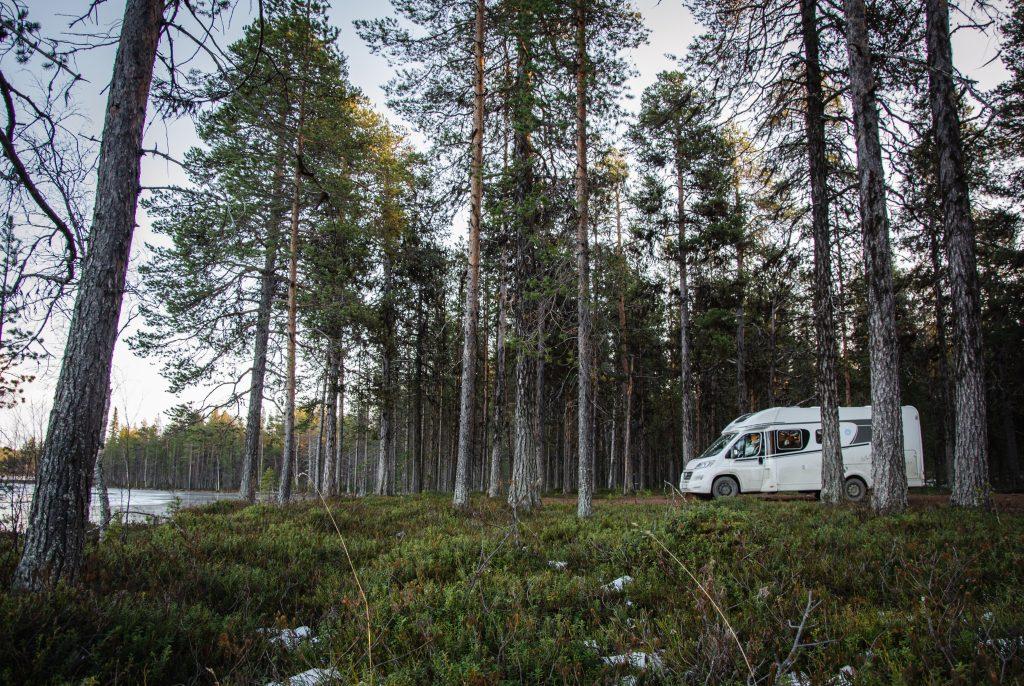 Stellplatz Lappland Schweden Polarkreis Nordschweden Skandinavien 3