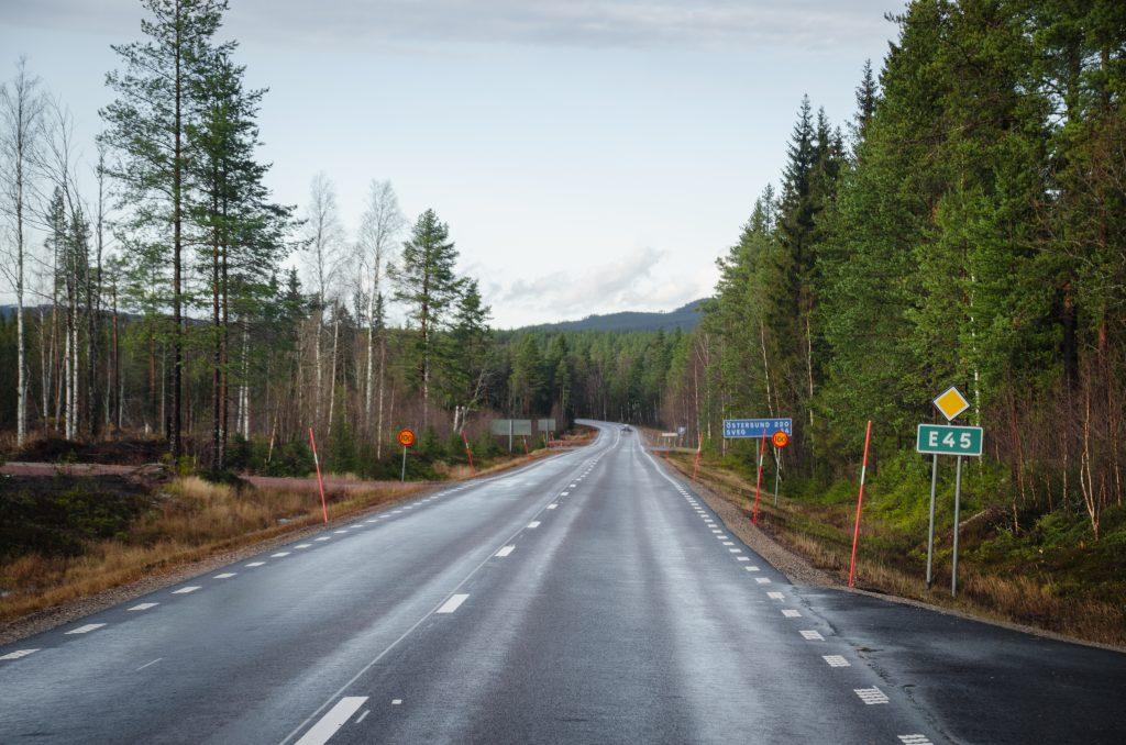Straße Schweden Roadtrip November