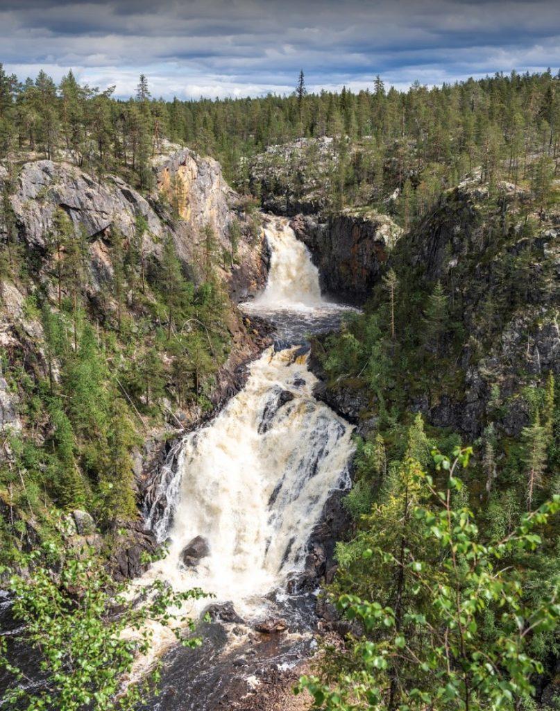 Muddus Nationalpark Schweden Muddusfall Wasserfall