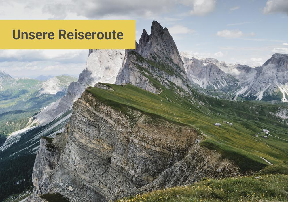 Südtirol Italien Reiseroute