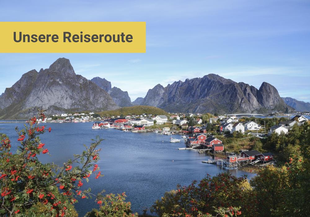 Unsere Norwegen Reiseroute