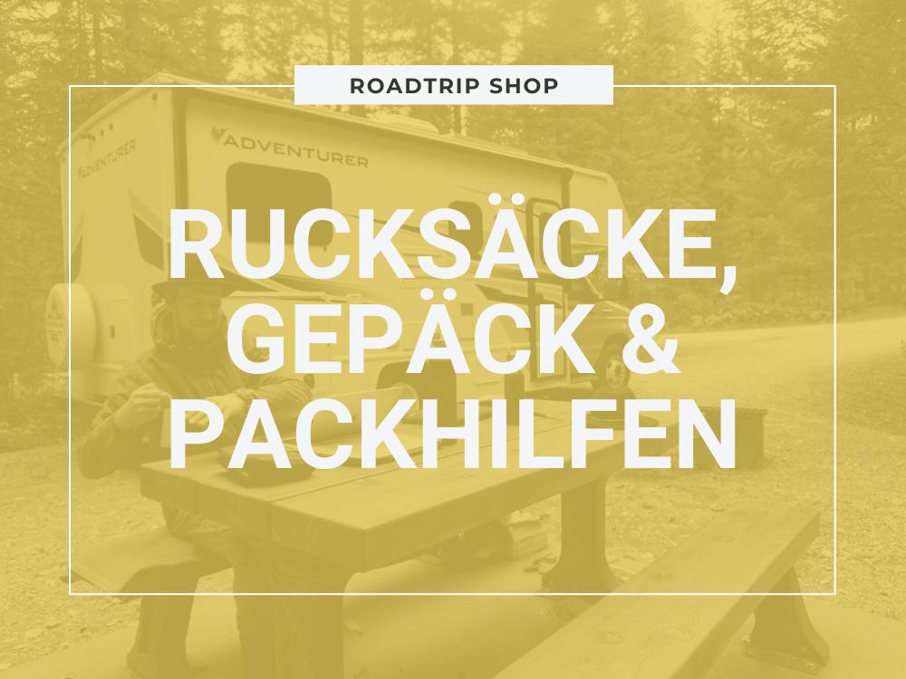 Roadtrip Shop Rucksäcke, Gepäck und Packhilfen